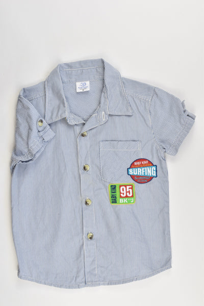 Baby Kiko Size 2-3 Collared Casual Shirt