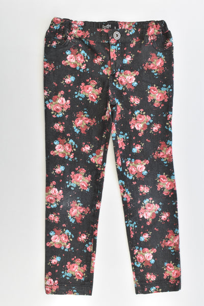 Bardot Junior Size 5 Roses Stretchy Pants