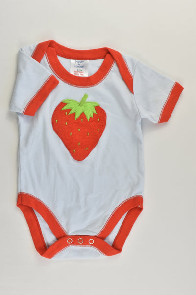 Beauty & The Bib Size 0 (6-12 months) Strawberry Bodysuit