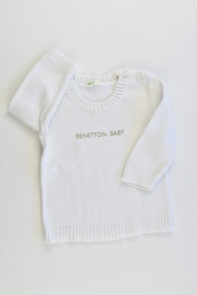 Benetton Baby Size 0000-000 Knitted Jumper