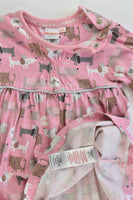 Bluezoo (Debenhams) Size 0 (74 cm, 6-9 months) Cats and Dogs Dress