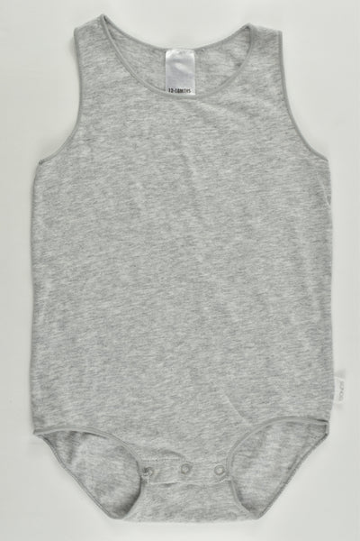 Bonds Size 1 (12-18 months) Grey Sleeveless Bodysuit