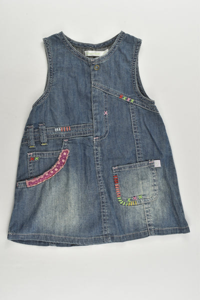 Bossini Size 1 (12-18 months) Lightweight Denim Dress