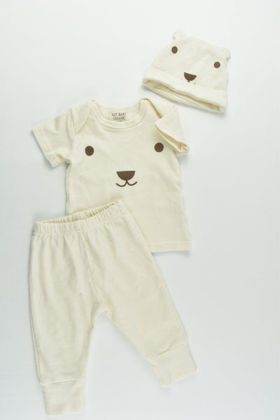 BQT Baby Organic Size 000-00 (0-6 months) Teddy Bear Outfit