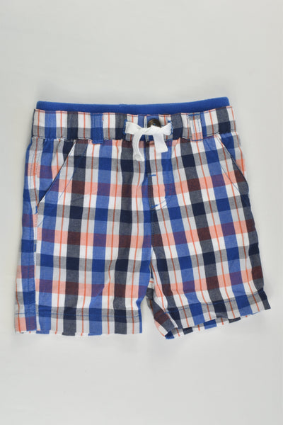 Brand Unknown Size 00 (3-6 months, 68 cm) Checked Lightweight Shorts