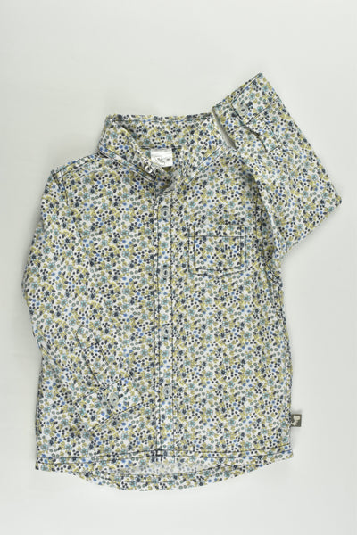 Brand Unknown Size 1 (86 cm) Floral Collared Shirt
