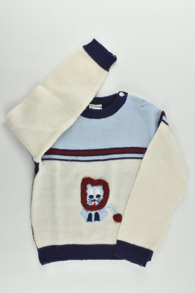 Brand Unknown Size 3 Vintage Lion Knitted Jumper