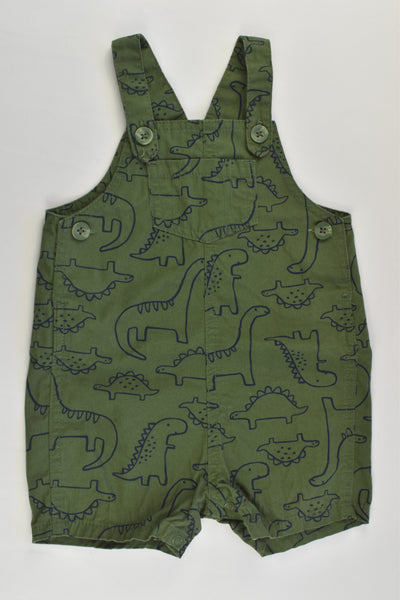 Carter's Size 0 (12 months) Dinosaurs Short Overalls