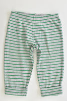 Carter's Size 0 Striped Santa at the Back Pants