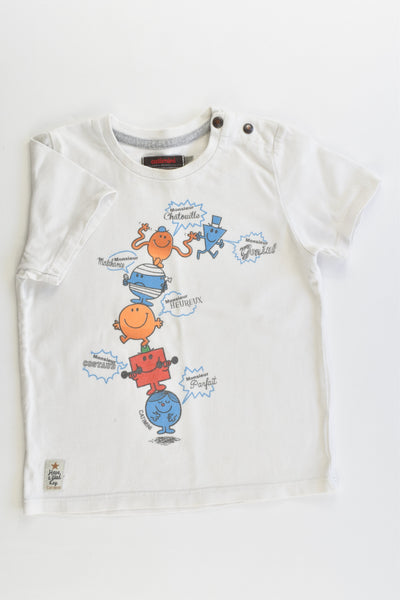 Catimini (France) Size 1-2 (2 years, 86 cm) Mr Men T-shirt
