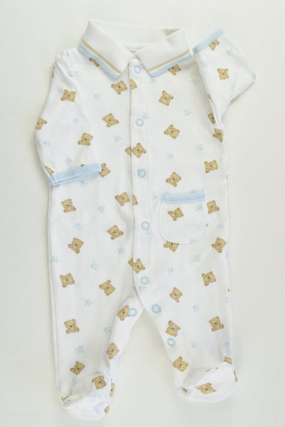 Child Of Mine by Carter's Size 0000 (Newborn) Teddy Bear Footed Romper