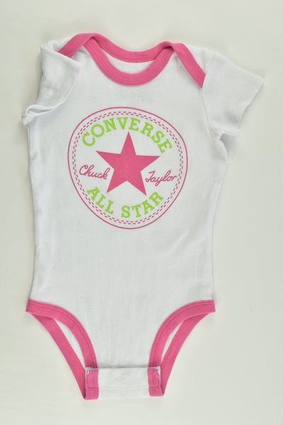 Converse All Star Size 00 (3/6 months) Bodysuit