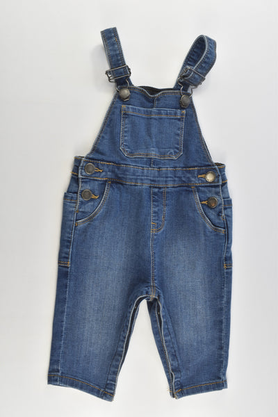 Cotton On Baby Size 0 (6-12 months) Very Stretchy Denim Overalls