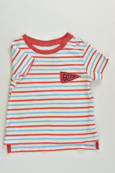 Cotton On Baby Size 00 (3-6 months) 'Go Team' T-shirt