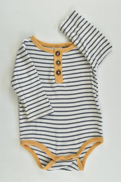 Cotton On Baby Size 00 (3-6 months) Striped Bodysuit