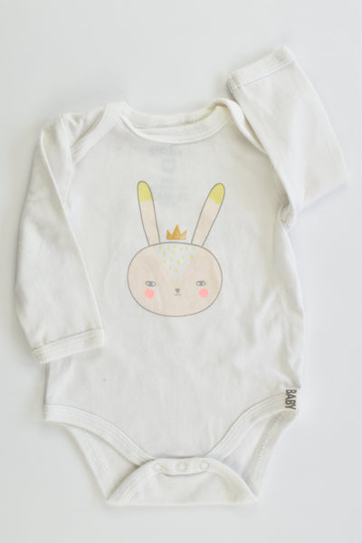 Cotton On Baby Size 000 (0-3 months, 62 cm) Bunny Bodysuit