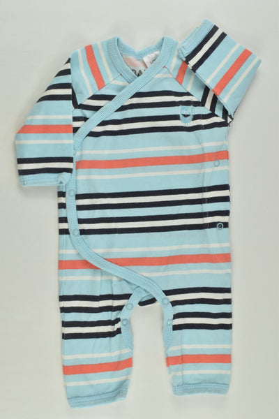 Cotton On Baby Size 0000 Striped Wrap Romper