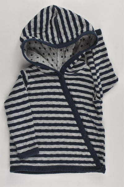 Cotton On Baby size 0000 Stripes and Dots Hooded Jumper