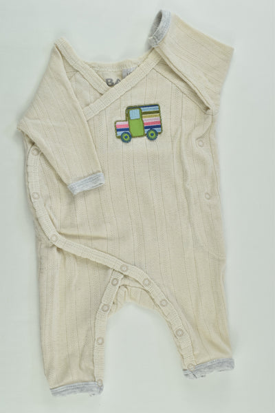 Cotton On Baby Size 0000 Truck Patch Wrap Romper