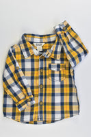 Cotton On Kids Size 0 (6-12 months) Checked Collared Shirt