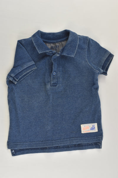 Cotton On Kids Size 0 Denim-like Polo Shirt