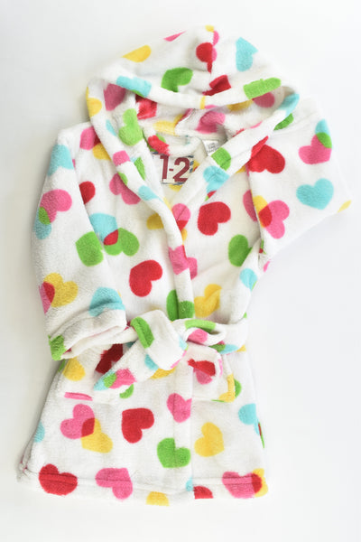 Cotton On Kids Size 1-2 Love Hearts Dressing Gown