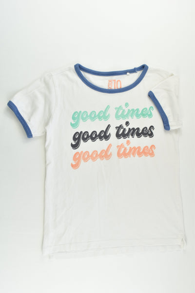 Cotton On Kids Size 10 'Good Times' T-shirt