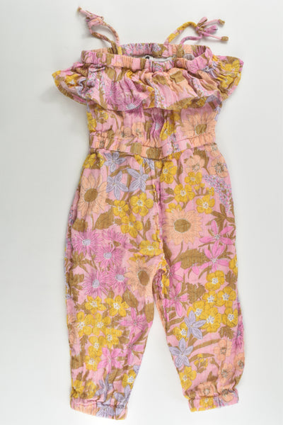 Cotton On Kids Size 2 Floral Muslin Playsuit