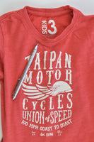 Cotton On Kids Size 3 'Taipan Motor Cycles' T-shirt