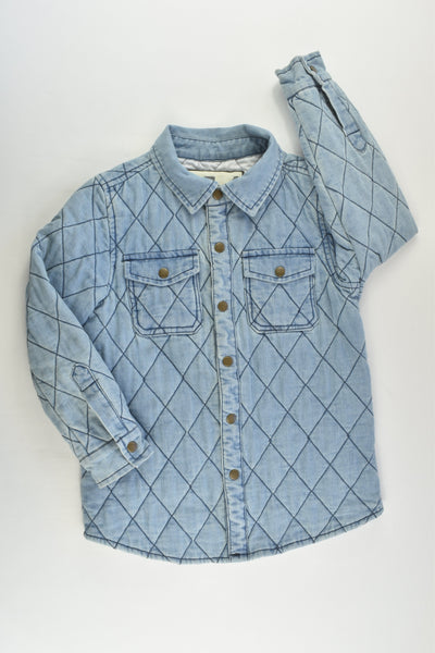 Cotton On Kids Size 5-6 Lightly Padded Denim Jacket