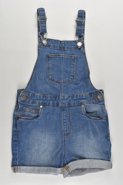Cotton On Kids Size 6 Stretchy Short Denim Overalls