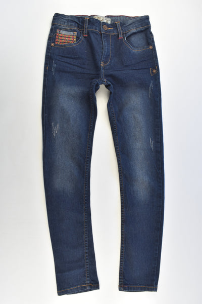 Curly Size 12 Stretchy Denim Pants