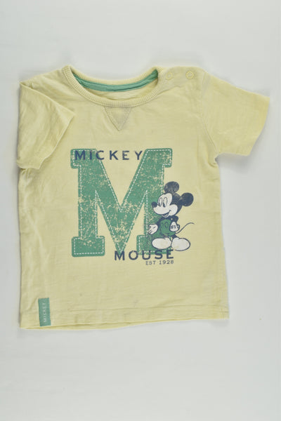 Disney Baby at George Size 0 (6-9 months) Mickey Mouse T-shirt
