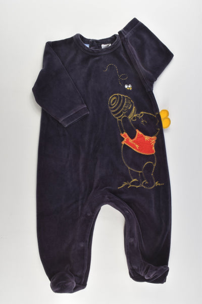 Disney Baby by Target Size 0 Winnie the Pooh Footed Velour Romper
