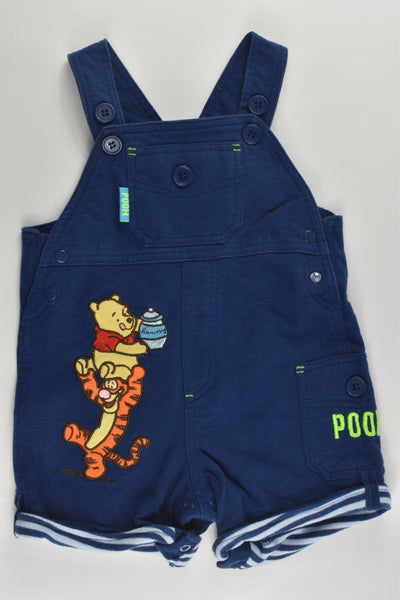 Disney Baby Size 0 Winnie The Pooh Short Overalls