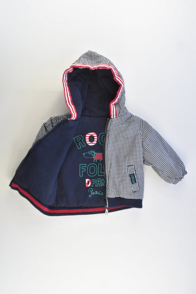 Du Pareil au Même (France) Size 00-0 Reversible Hooded Jacket