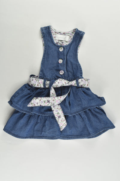 Early Days Size 00 (68 cm) Lightweight Denim Dress with Floral Details