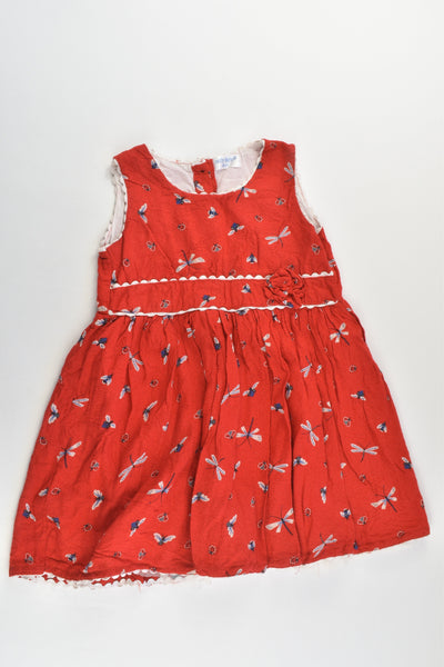 Early Days Size 2 (18/24 months) Ladybugs and more Lined Dress