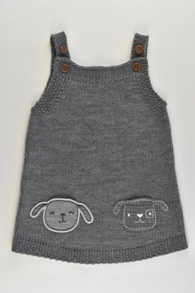 F&F Size 1 (12-18 months) Animal Pockets Knitted Dress