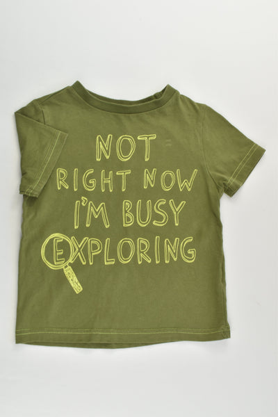 F&F Size 3-4 'I'm Busy Exploring' T-shirt