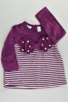 First Impressions Size 0 (6-9 months) Velour Tunic/Blouse with Bow