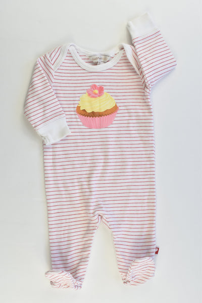 Fox & Finch Baby Size 000 (3 months) Striped Cupcake Footed Romper