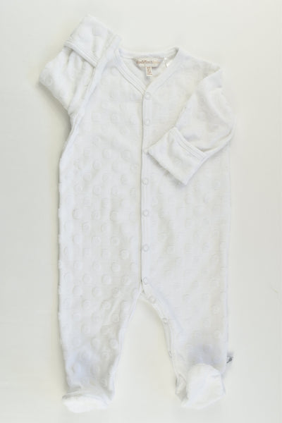 Fox & Finch Size 000 White dots Footed Romper