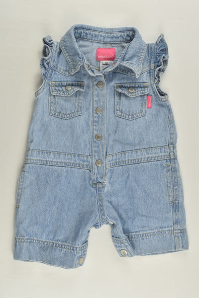 Fred Bare Size 00 Denim Playsuit