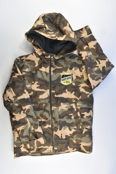 Gap Kids Size 10-11 (140 cm) Water Repellient/Proof Camouflage Hooded Winter Jacket