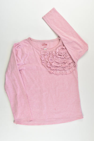 GB Tee Size 8-9 Top with Ruffle Flower