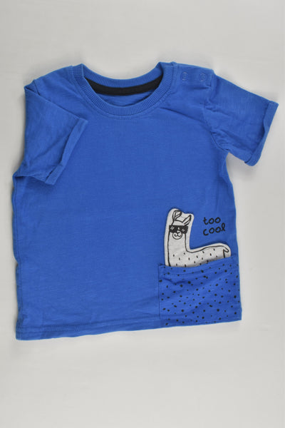 George Size 0 (6-9 months) 'Too Cool' Llama T-shirt
