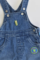 George Size 00 (3-6 months) 'Monster' Denim Short Overalls