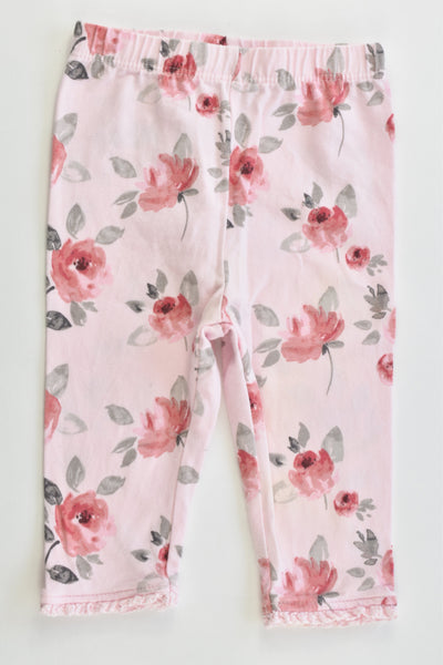George Size 00 (3-6 months) Roses Leggings