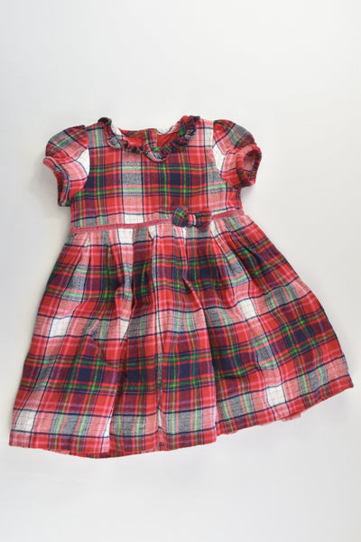 George Size 1 (12-18 months) Checked Lined Dress